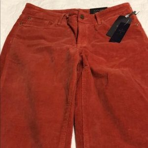 NWT NYDJ beautiful burnt orange corduroy pants